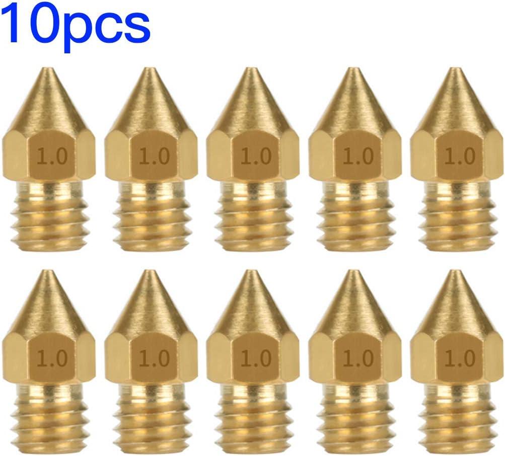 1.75mm 0.2mm Hotaluyt 10pcs 3D en Laiton dimprimante T/êtes de buse MK8 Extrudeuse t/êtes dimpression de Remplacement pour CR 10