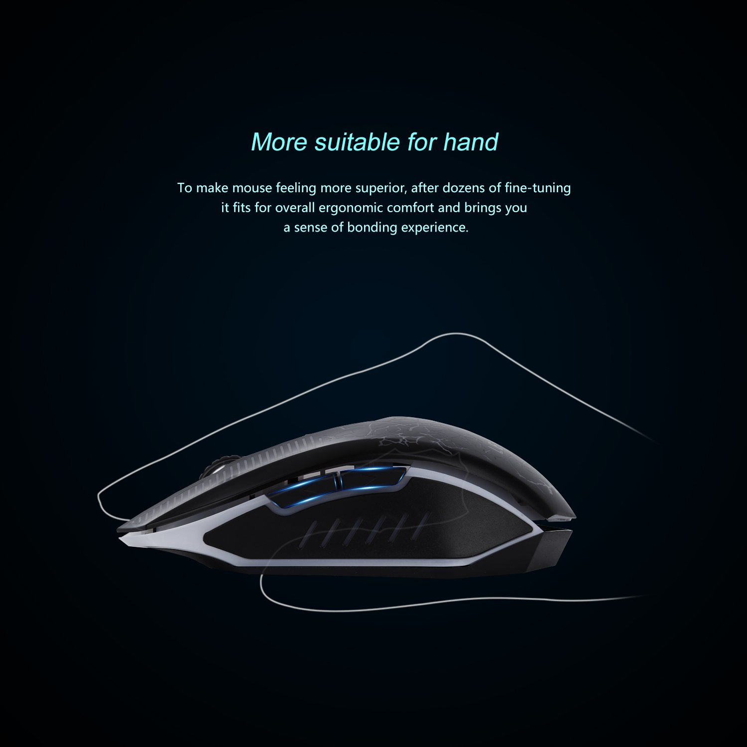 Gaming Mouse,LESHP Ergonomic USB Wired Gaming Mouse Mice with 2400DPI Adjustable High Precision 6 Button LED Optical for Laptop PC Computer Gamer