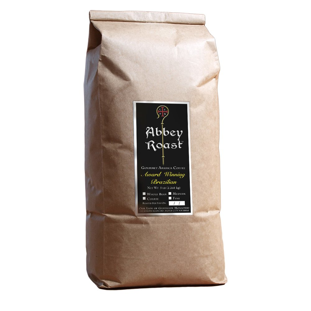 Award Winning Abbey Roast Brazilian Coffee, 100% Arabica, freshly roasted, whole bean - 5lb.. 61Teq-Ov2BUL