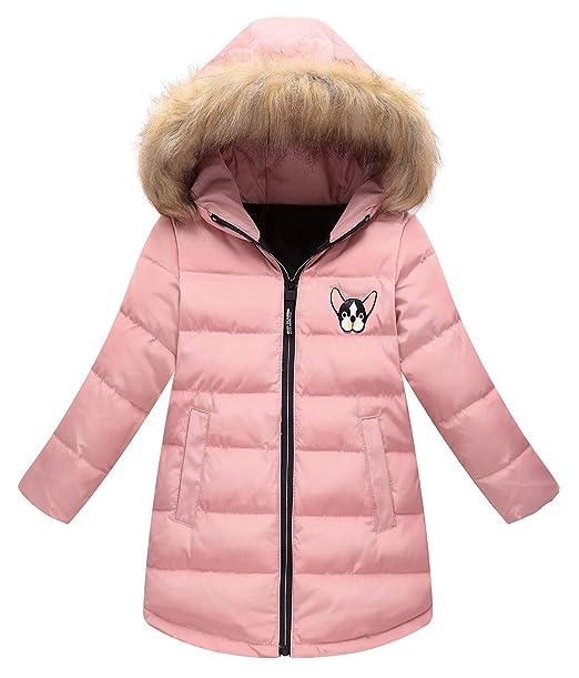 Amazon.com: Happy Cherry - Abrigo de invierno para niñas con ...