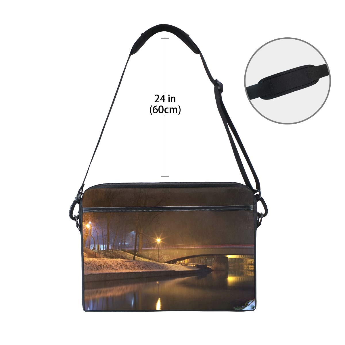 Briefcases Handbags Suitable for 15 Inch Computers Quiet Bridge Mens and Womens Computer Bags Shoulder Bags