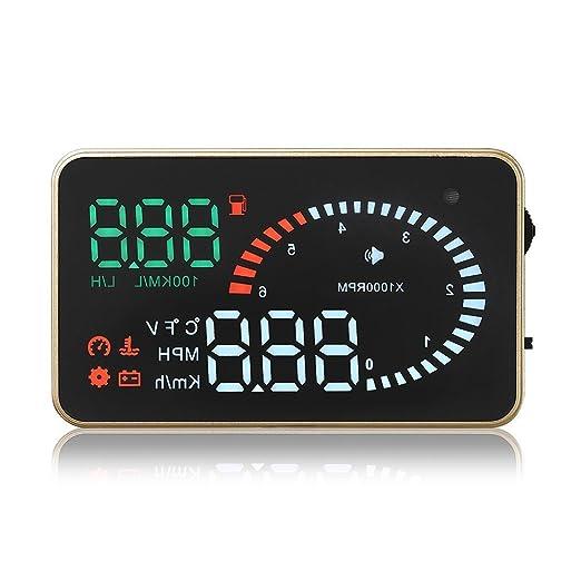 2 opinioni per X5 Multi-function Universal Car HUD Up Display Alarm System Head Up Display KM/h