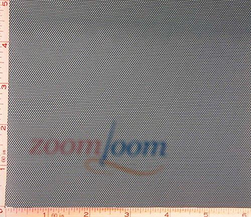 "Black Power Mesh Net Fabric 4 Way Stretch Polyester Spandex Lycra 3 Oz 58-60"""