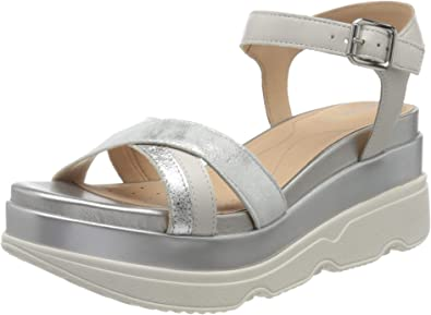 Geox Womens Platform Flatform Sandals