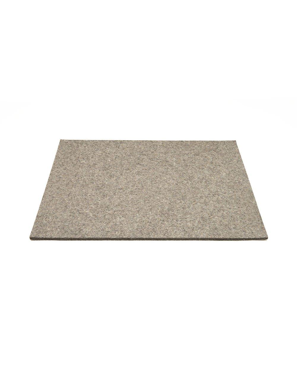 Felt Desk Pad - 17.5 long x 15 wide x 1/4 thick, Natural Grey The Felt Store
