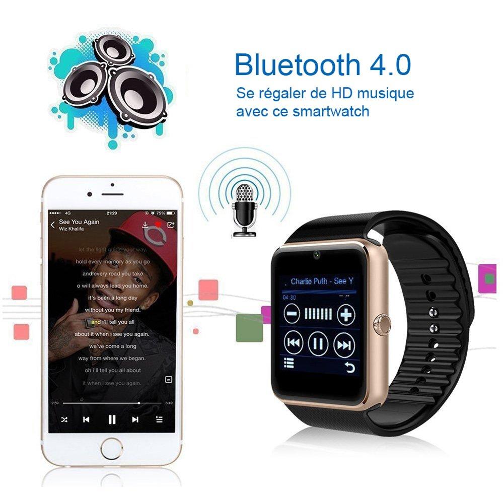 Bluetooth SmartWatch GT08 inteligente salud muñeca reloj teléfono con tarjeta SIM ranura para Android Samsung, HTC, LG, Sony (Full funciones) IOS ...