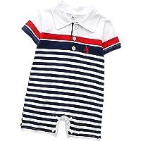 puseky Bebek Erkek Çocuk Çizgili Uyumlu Tulum Yenidoğan Yakalı Giysiler
