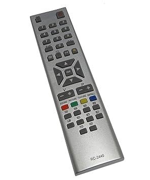 Aerzetix - DIS190 Mando a distancia para televisor compatible con ...