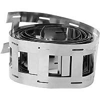 Zerone 1M Battery Spot Welding Nickel Sheet 2P 0.12 × 27mm Nickel-Plated Steel Strip Belt(with Hole)