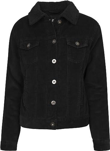 Urban Classics Ladies Sherpa Cordury Jacket, Chaqueta para Mujer