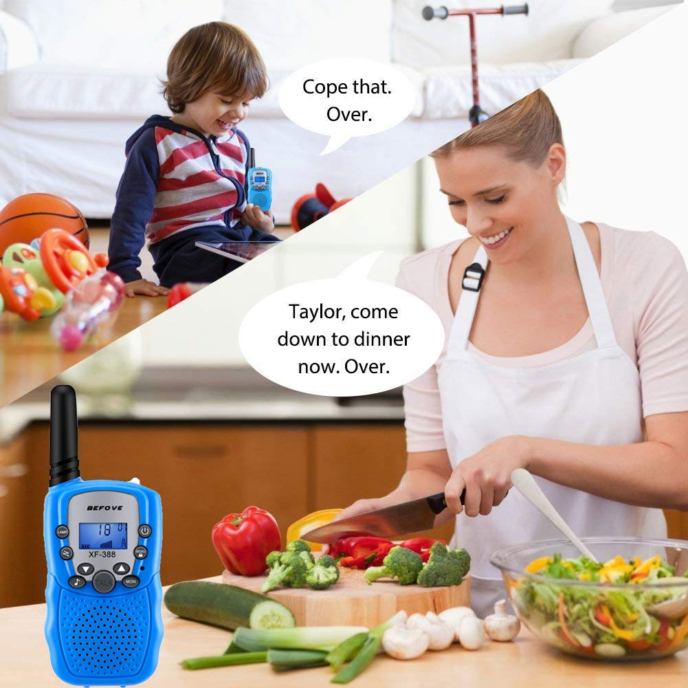 Befove Walkie Talkies, 3 x Walkie Talkie Kids 22 Channel Handheld FRS Transceiver Two Way Radios Long Range Walky Talky for Kids Adults, Camping Hiking Outdoor Use with Straps by Befove (Image #6)