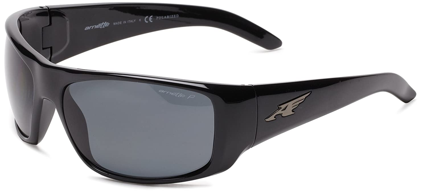 ad502e9928 Amazon.com  Arnette Men s La Pistola Polarized Sport Sunglasses BLACK 55mm   Arnette  Clothing