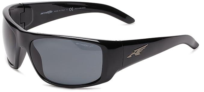 Arnette La Pistola, Gafas de Sol para Hombre, Black, 65
