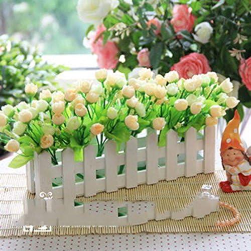 LLPXCC Flores artificiales Creativo la decoración del hogar mesa de comedor sala de estar de estilo europeo moderno sencillo flores decorativas flor de cerco traje ventana macetas con plantas verde amarillo rosa