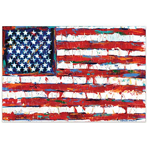 - Empire Art Direct American Flag Frameless Tempered Glass Panel Graphic Wall Art, 32