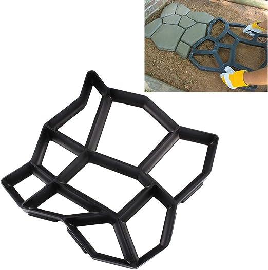 Herramientas de jardinería Cemento manual del camino concreto del molde molde plástico del pavimento del jardín del molde DIY: Amazon.es: Jardín