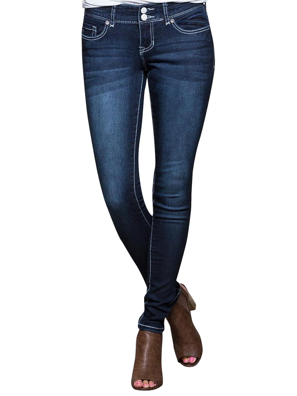 VANITY Women's Sasha Skinny Fleur Ultra Jeans 30W 29L Dark Denim