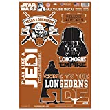 WinCraft Texas Longhorns Official NCAA 11 inch x 17 inch Star Wars Darth Vader Car Window Cling Decal by 156839