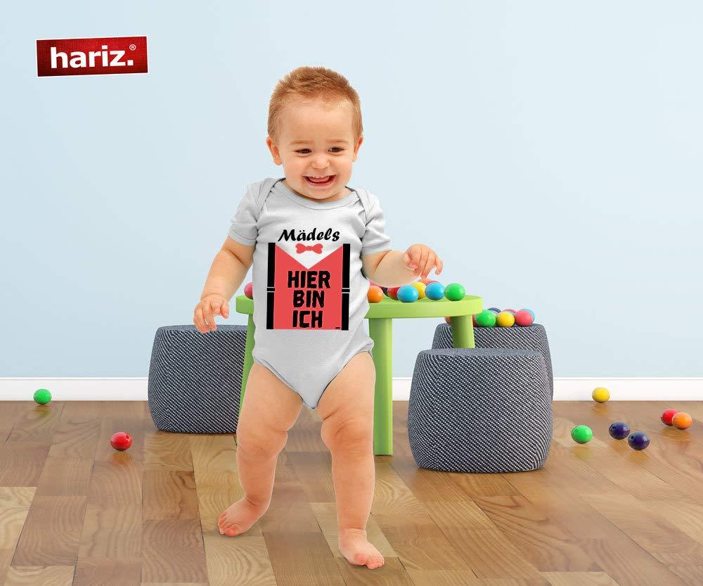 Geschenk Karte Bleistift Grau 0-3 Monate HARIZ Baby Body Kurzarm M/ädels Hier Bin Ich Baby Spruch Witizg zur Geburt Vatertag Inkl