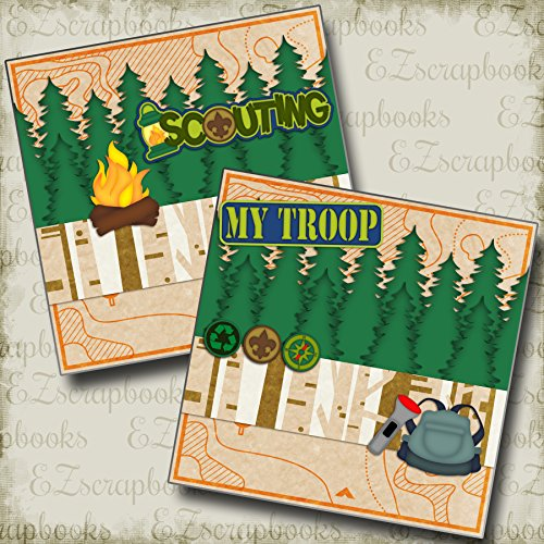 SCOUTING NPM - Premade Scrapbook Pages - EZ Layout 2618