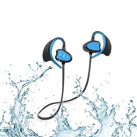 Ipx8 impermeabili cuffie bluetooth CSR Noise Cancelling auricolari sportivi wireless  con gancio dell orecchio sweatproof 5c1b12762c90
