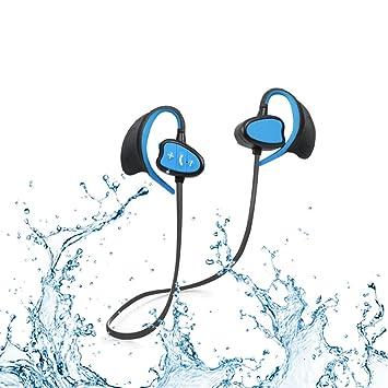 Ipx8 Waterproof CSR Auriculares Bluetooth Cancelación de ruido Auriculares deportivos inalámbricos con gancho para la oreja Auriculares a prueba de viento ...