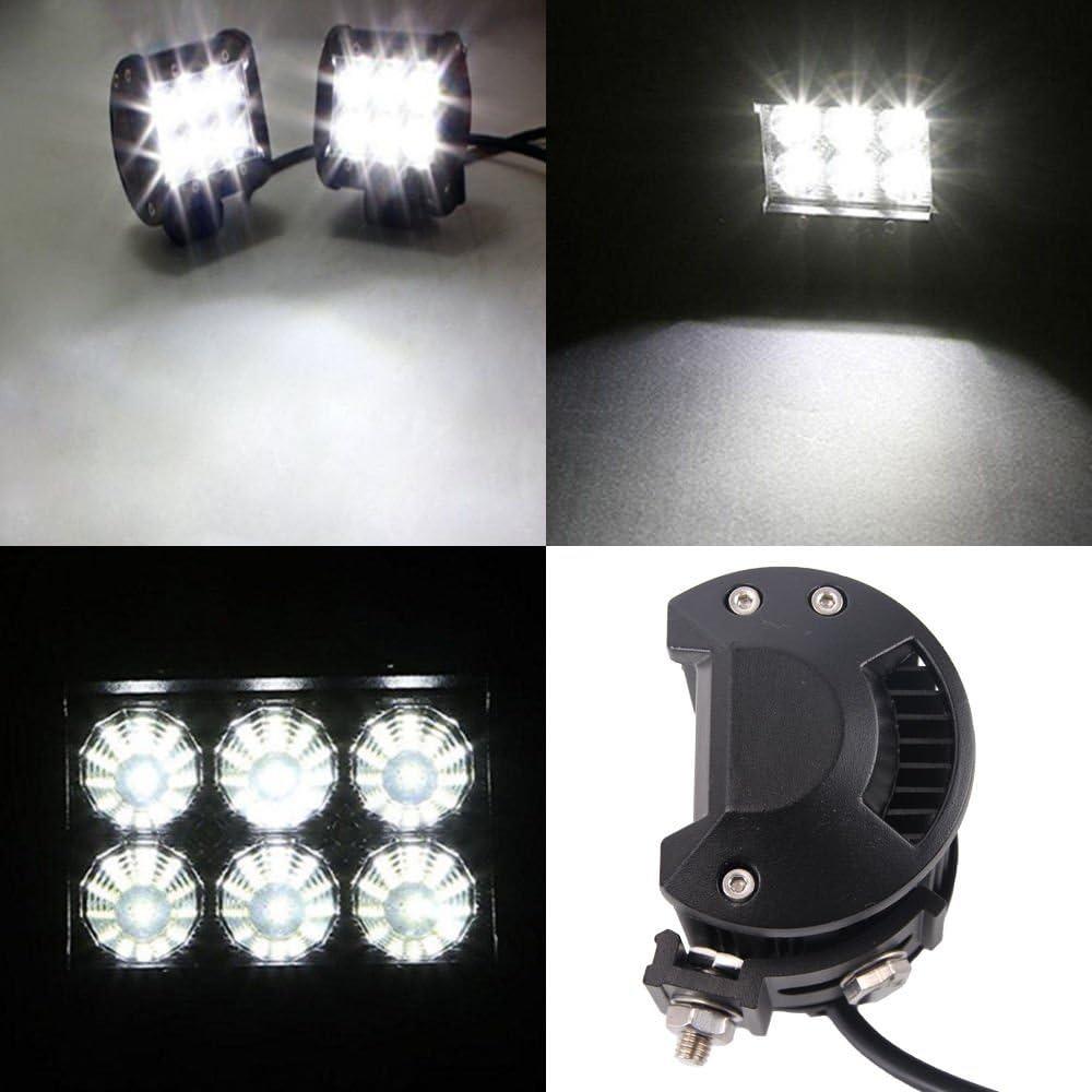 LARS360 4x 18W Faro da Lavoro Luce di Profondaitaa LED Offroad Proiettore Riflettore Worklight 1600LM Pressofuso in alluminio nero IP67
