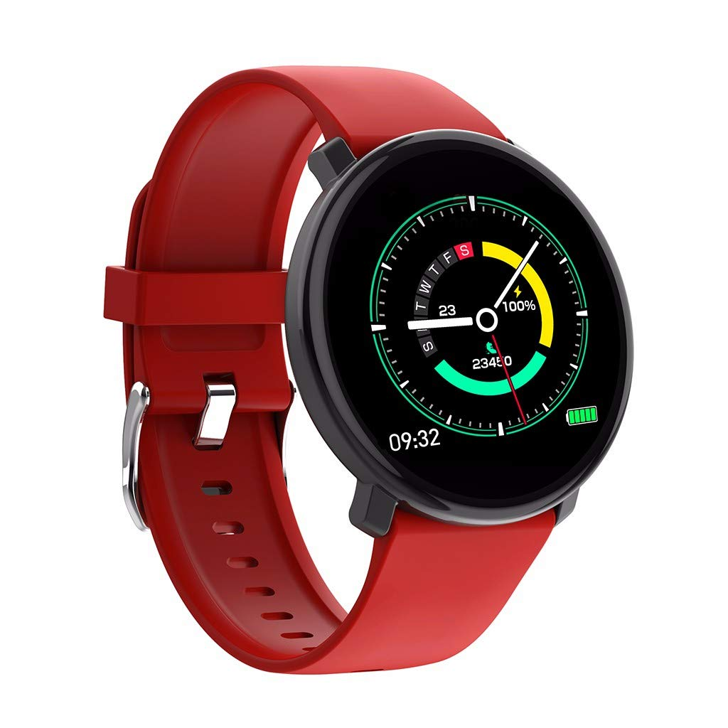 M31 Smart Watch,Sunsee Smart Watch Sports Fitness Activity Heart Rate Tracker Blood Pressure Watch IP67 (Adjustable Length: 245mm, Red)