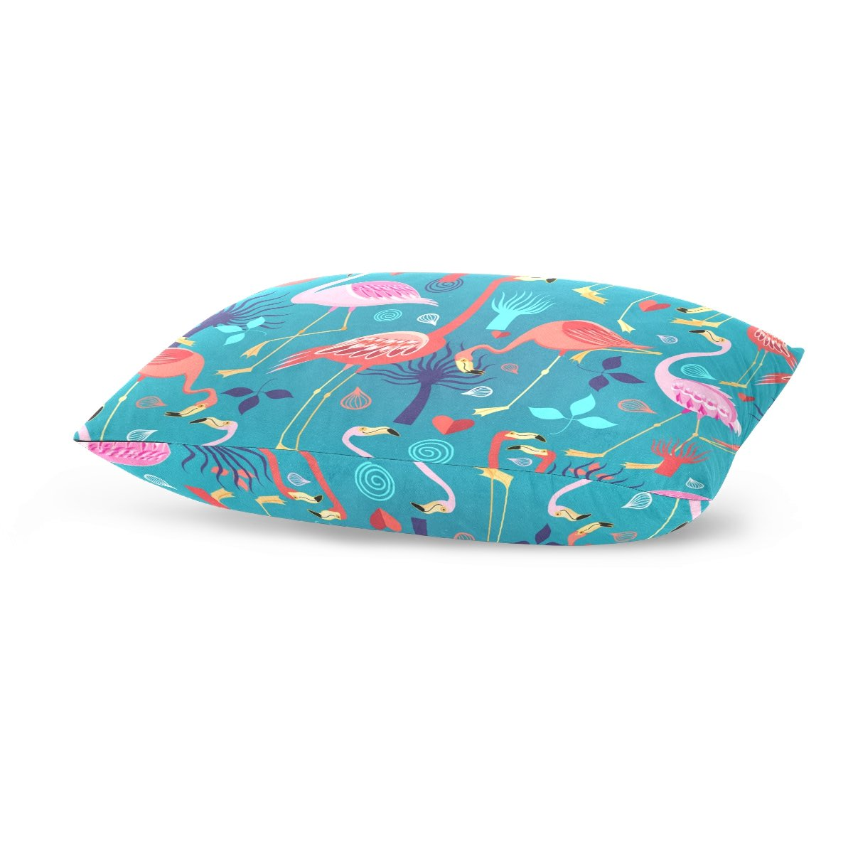 Cotton Velvet Pillowcases Flamingos Love Soft Pillow Protector with Hidden Zipper 20 x 26 Inch by My Little Nest (Image #4)
