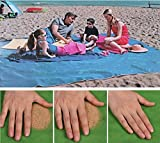 None Sand Free Beach Mat - Ultra Lightweight Sand Proof Free Beach Mat, Waterproof Portable Sandless Blanket for Summer Beach, Picnic, Hiking, Outdoor (200200cm, Green)