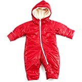 (ファンファン) FUN fun カバーオール ロンパース ジャンプスーツ ベビー 新生児 レッド 男女共用 60-70cm