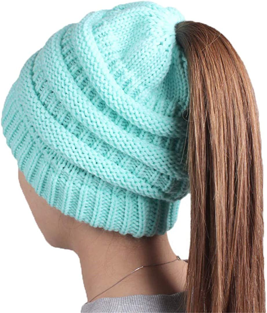 Women'S Soft Knit Ponytail...
