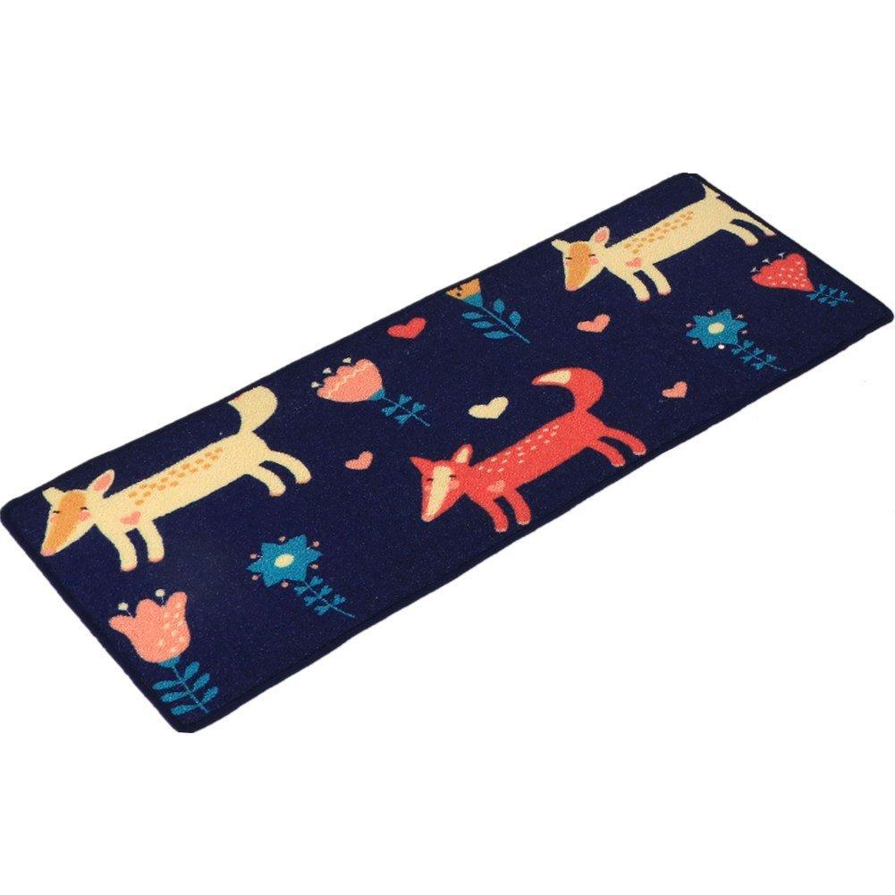 """YOXI - Passatoia da cucina con fantasia """"animali marini"""", tappetino con fondo in gomma antiscivolo, zerbino per porta d'ingresso, Cute Fox, 45*80cm"""