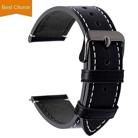 ede54be155 Fullmosa 4 Colori per Cinturino Orologio, Pelle Cinturino SmartWatch  Braccialetto Cinturini di Ricambio Band Orologio