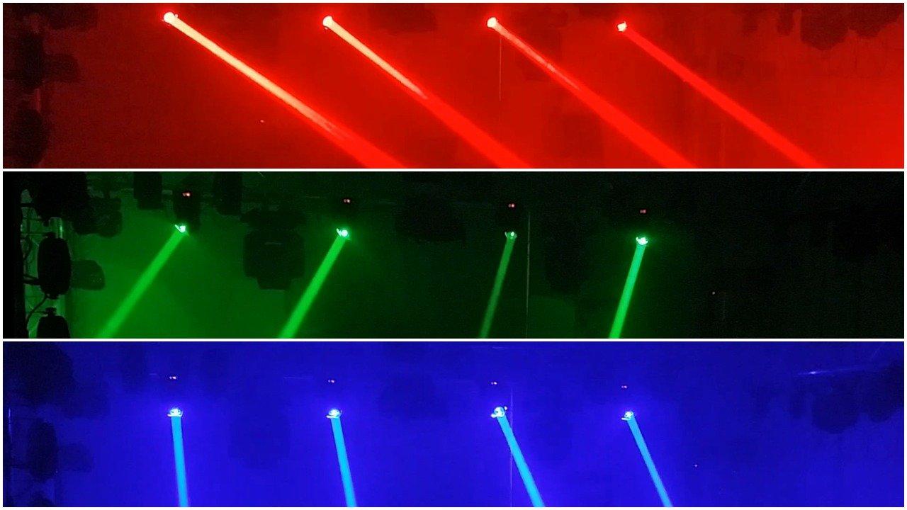 JMAZ Crazy Beam 60 Quad RGBW LED Moving Head Beam Light 60-Watt DMX512 For Stage Light Disco DJ Wedding Party Show Live Concert Lighting