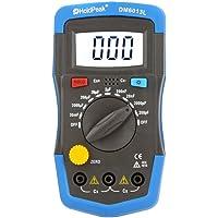 Capacimetro Condensadores Digital Profesional pf/mf/μf,HoldPeak Medidor Capacitancia Eléctrica Probador con Cable de…