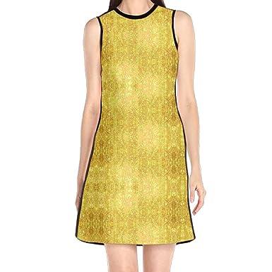 3bf3444265f Women s Sleeveless Dress Romantic Life Print Casual Party Slim A-Line Dress  Midi Tank Dresses at Amazon Women s Clothing store