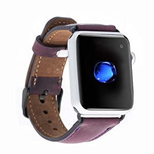Gift For Christmas, Apple Watch Full Grain Leather Band, Leather iWatch Strap for All Series, iWatch Band for 42mm 38mm 40mm 44mm