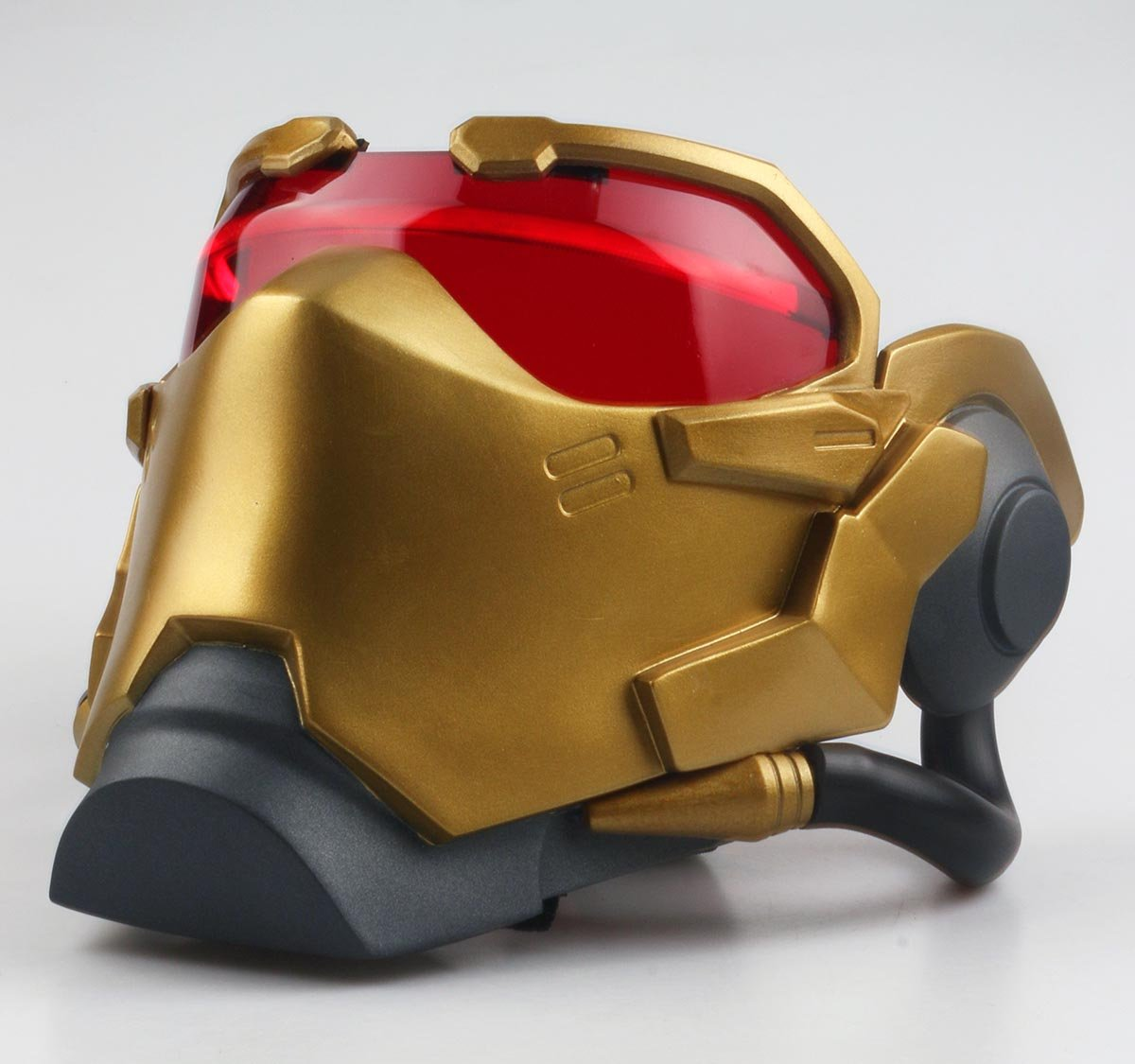 Gmasking 2017 OW Soldier 76 John ''Jack'' Morrison Cosplay Light-up Gold Mask Exclusive 1:1 Collectible