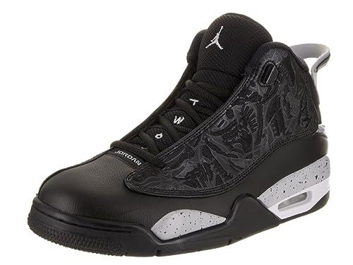 c4a46095cdf73 Nike Jordan Men s Air Jordan Dub Zero Black Wolf Grey White Basketball Shoe  9.