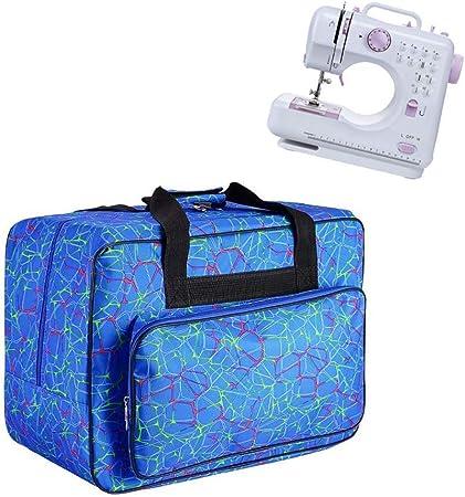 JanTeelGO Bolso para Máquina de Coser, Bolsa de nylon universal, funda de transporte acolchada universal con bolsillos y asas (Azul): Amazon.es: Hogar