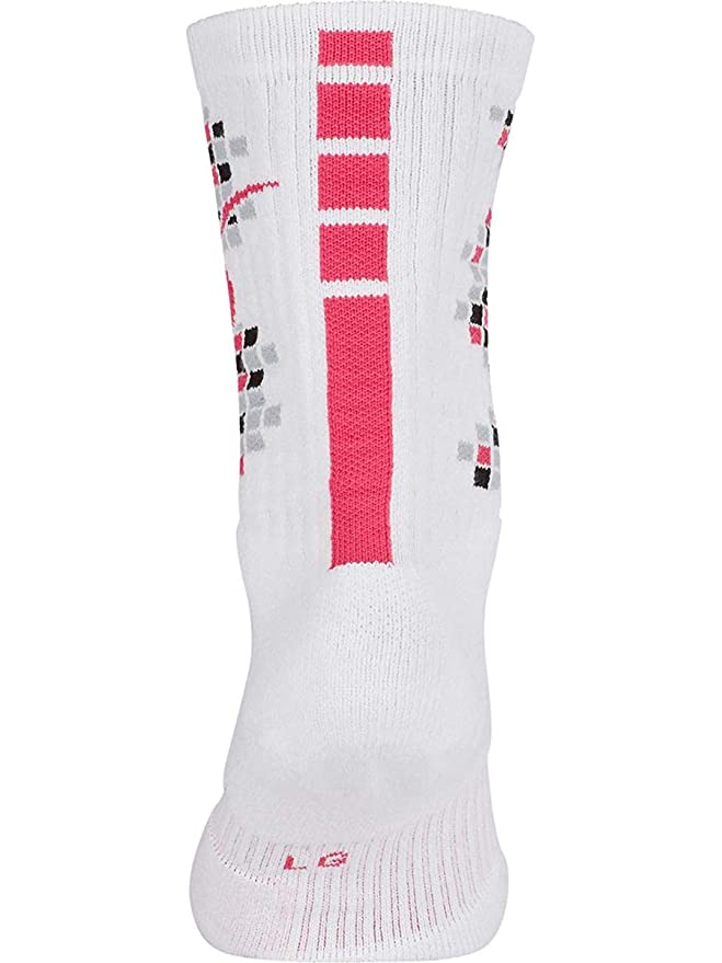4c1fbd2a42503 Nike Elite Kay Yow Breast Cancer Crew Socks White/Pink 12-15 at ...