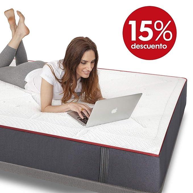Colchones Morfeo 105x190 | Hybrid System | Micromuelle-Viscoelastica-Grafeno. El Mejor colchón para Dormir, dureza Media Alta. Duerme Bien Vive Mejor: ...