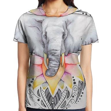 acdb4c4cd Amazon.com: May Bohemian Elephant Boho Tops Short Sleeve T-Shirt ...