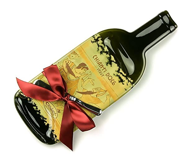 Melted Wine Bottle Cheese Plate Candoni Chianti / Upcycled Bottles / Recycled Wine Bottles / Cheese  sc 1 st  Amazon.com & Amazon.com: Melted Wine Bottle Cheese Plate Candoni Chianti ...