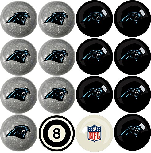 Imperial Officially Licensed NFL Merchandise: Home vs. Away Billiard/Pool Balls, Complete 16 Ball Set, Carolina Panthers