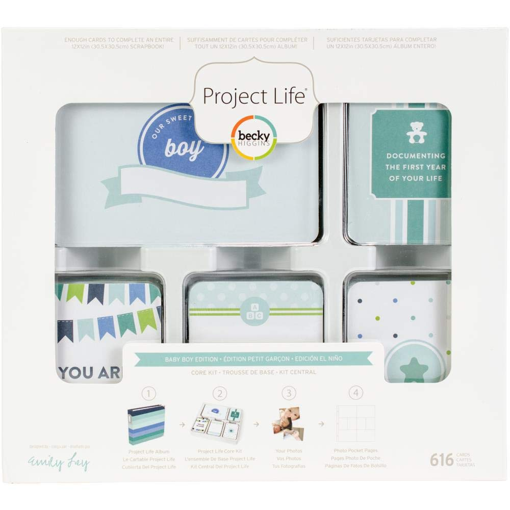 American Crafts Becky Higgins Project Life Baby Boy Edition Collection Core Kit (6 Pack)