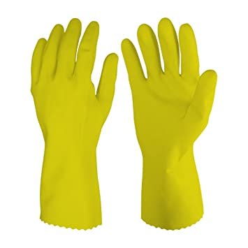 Primeway Rubberex Latex Household Rubber Hand Gloves, Large, 1 Pair