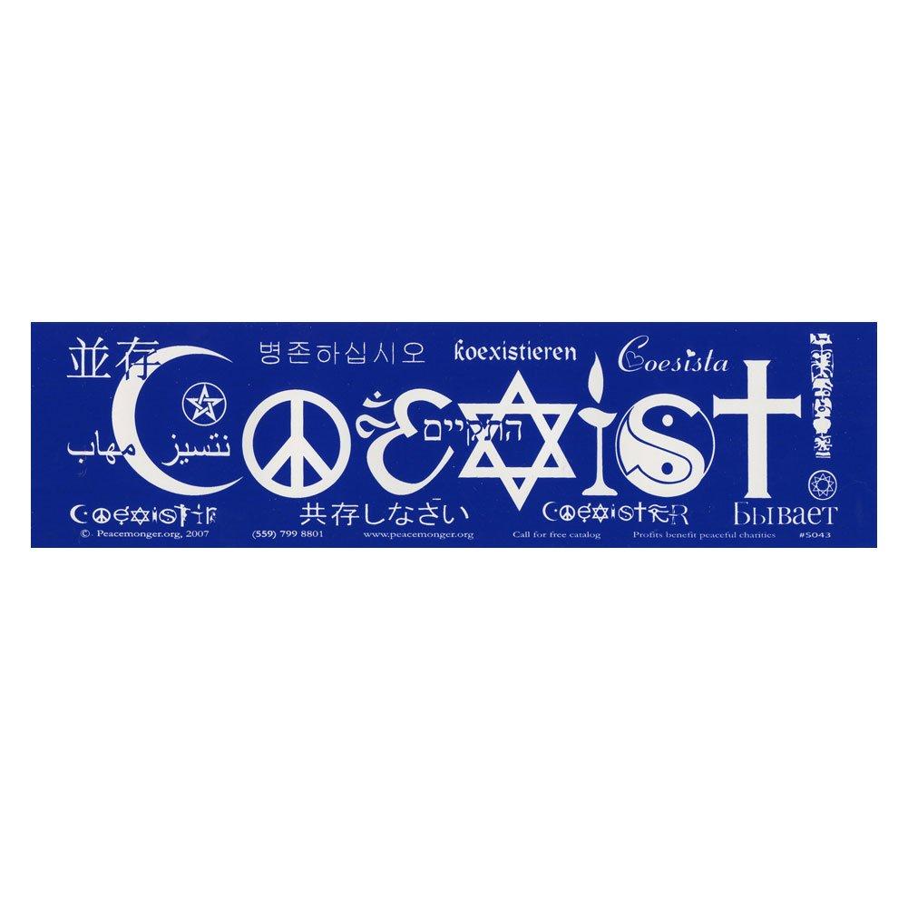Amazon com coexist international version bumper sticker in various languages automotive
