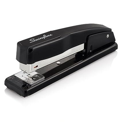 a black stapler